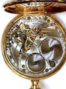 VINTAGE (circa 1902) WALTHAM SOLID 14KT GOLD POCKET WATCH