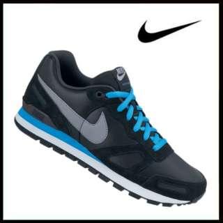 Nike Air Waffle Trainer Leather black/blue (001)Nike Air Waffle