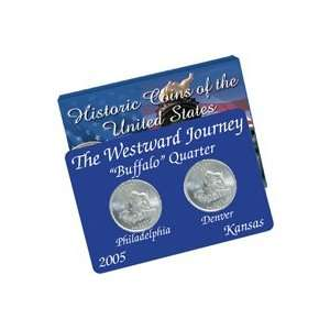 2005 Kansas (Buffalo) Quarters Mint Mark Set: Sports