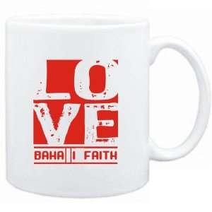 Mug White  LOVE BahaI Faith  Religions Sports