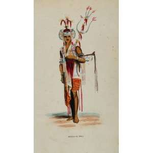 Herault Timor Indonesia UNUSUAL!   Hand Colored Print: Home & Kitchen