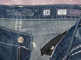 NICE GEMS ** MISS ME Skinny Jeans 28 x 30 Juniors/Womens Stretch