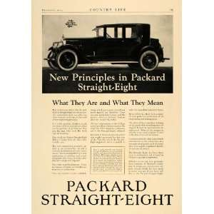 1923 Ad Packard Straight Eight Car Model V Type Motor