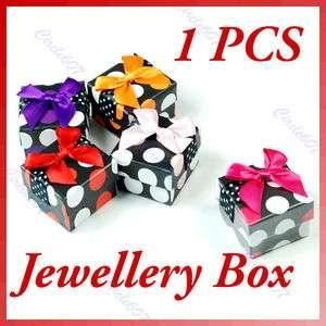 Fashion Women Jewelry Gift Ring Square Shape Box Case