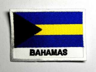 BAHAMAS ISLANDS NEW FLAG IRON ON PATCH EMBROIDERED I037