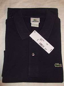 NEW Mens LACOSTE L/S Classic PIQUE Polo GOLF Shirt, NAVY BLUE, PICK A