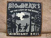 Big Bears Dance Tin Metal Sign Decor Lodge Black Woods