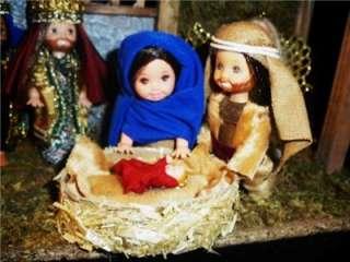 Nativity Scene set Kelly / Tommy doll ooak barbie 3 wise men christmas