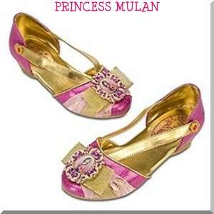 MULAN SHOES HALLOWEEN COSTUME GIRLS DRESS UP 11/12 13/1 2/3 DISNEY NEW