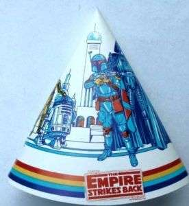 Star Wars ESB 1981 Party Hat Darth Vader Boba Fett