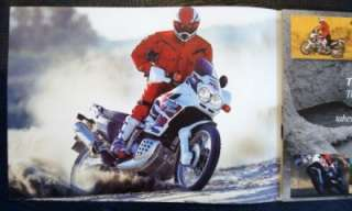HONDA AFRICA TWIN 750 MOTORCYCLE SALES BROCHURE OCTOBER 1998.
