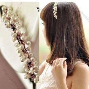 New Cute Lovely Sweet Small Imitation Pearl headband Hairpin Hair