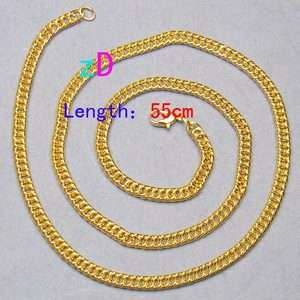 Plated Lots 2pcs 21.8 Link Chain Clasp Necklace Fashion Jewelry New