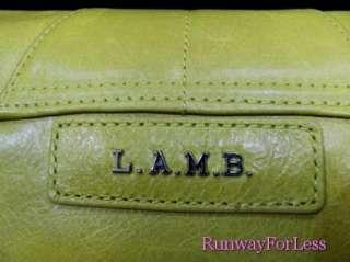 LAMB L.A.M.B By Gwen Stefani Tamba Yellow Green Apple Leather Handbag
