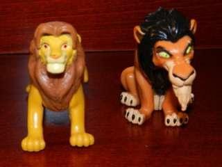 King Simba Nala Pumbaa Scar Rafiki Monkey Figure LOT Disney Baby Cubs