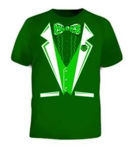 Irish Tux Tuxedo Suit Beer Party Ireland Green T Shirt