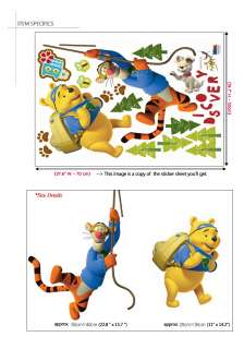 DISNEY WINNIE THE POOH & TIGGER Childrens Wall Sticker
