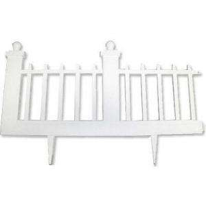 Emsco 12 In. Resin Colonial Garden Fence (10 Pack) 2095HD at The Home