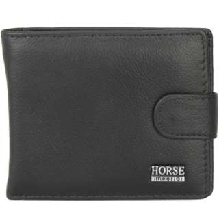 Black Mens Bifold Cluth Wallet Purse ID Window Credit Card Holder PU