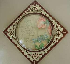 VINTAGE BUBBLE GLASS WALL PLAQUE MOTHERS DAY POEM PRINT
