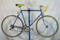 Vintage Peugeot Road Bike Blue Bicycle Bent Frame Shimano France Steel