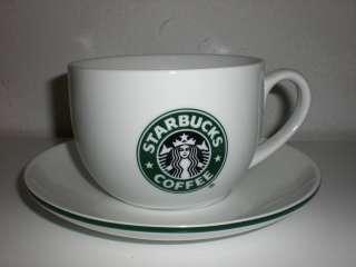 Huge STARBUCKS COFFEE Mug & Saucer Plate MERMAID LOGO