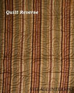 BROWN AQUA BLUE GREEN CORAL RED FLORAL QUEEN QUILT SET