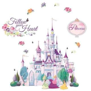 Disney 34 In. X 36 5/8 In. Lavender Princess Castle Wall Mural
