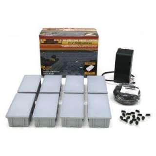 Kerr Lighting 8 Light Outdoor Paver Light Kit KPAV04 08 088K at The