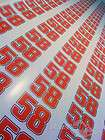 marco simoncelli 58 race numbers stickers decals graphics x2 small