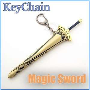 Fate stay night Magic Heavenly Sword Weapon Knife metal model Keychain
