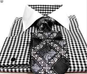Steven Land & Brand Q Black Shirt & Tie Combo