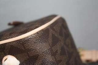 Auth MICHAEL Michael Kors Grayson Large Logo Satchel Brown Handbag