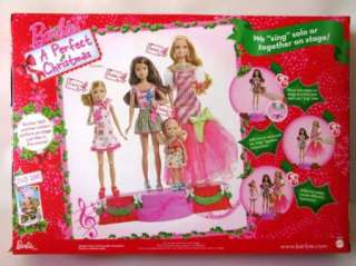 Barbie a Perfect Christmas Dolls & Stage Gift Set 2011 New