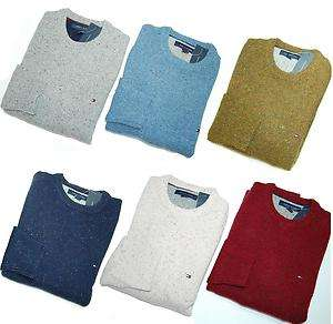 NWT TOMMY HILFIGER MENS CEWNECK SWEATER PULLOVER JUMPER WOOL 5 COLORS