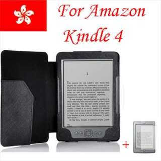 BLACK LEATHER POUCH CASE COVER FOR  KINDLE 4 4TH GENERATION+