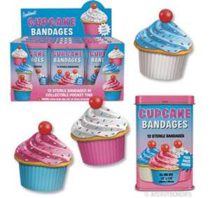 CUPCAKE BANDAGES Adhesive Band Aids Gag Gifts Favors