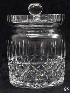 Cut Glass/Crystal Cookie Jar or Biscuit Barrel Diamond Design