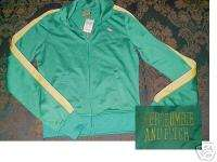 Abercrombie & Fitch Moose Logo Green Track Jacket NWT S
