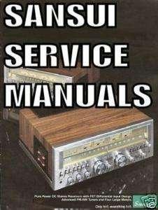 SANSUI SERVICE MANUAL HI FI AMP AUDIO REPAIR PDF cd