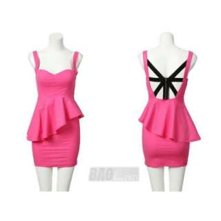 New Arrival Sexy Side Openwork Design Low Cut Srapless Mini Dress For