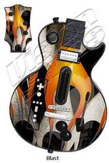 Faceplate Skin Skins for Guitar Hero 3 III Nintendo Wii