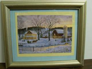 CHRISTMAS FRAMED PICTURE (OR USE ALL WINTER  SNOW SCENE)