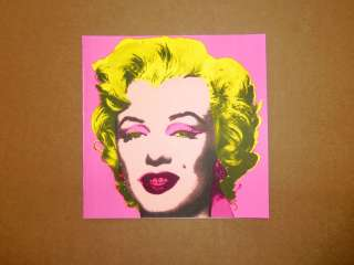 Andy Warhol Marilyn Monroe Castelli Invitation Unsigned