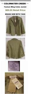 89 Coldwater Creek Womens Silk Jacket Plus sz W18