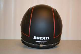 DUCATI JET SET HELMET MOMO DESIGNS MATTE BLACK HELMET 3/4 SMALL