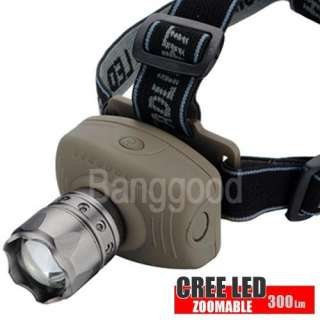 300LM 5W Zoom CREE LED Head FlashLight TORCH Headlamp