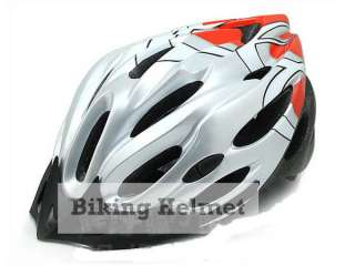 M63 New Silver Red MTB Road Bike Bicycle Helmet sz L