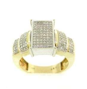 Pretty Genuine Diamond Solid Multi Tone Gold Ring Band