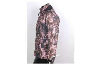 Camouflage Military Windbreaker Jacket Field Coat Pink Brown